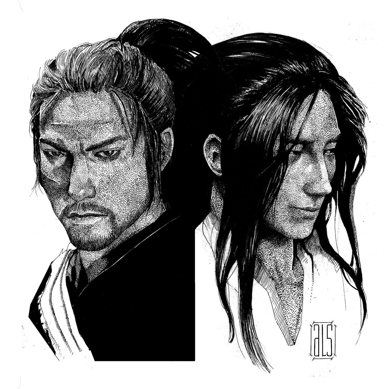 Sasaki Kojiro And Miyamoto Musashi: Inoue Takehiko's Vagabond, Miyamoto Musashi And Sasaki