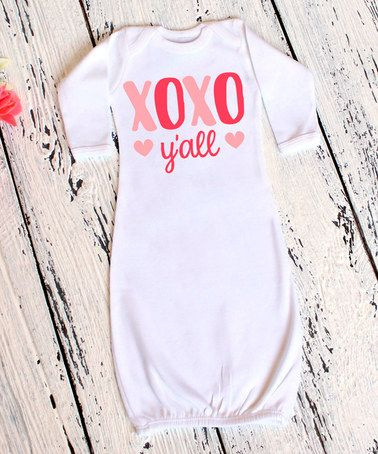 This White 'XOXO Y'all' Gown - Infant is perfect! #zulilyfinds