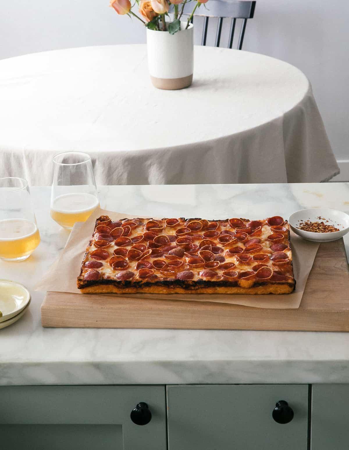 Detroit Style Pizza – A Cozy Kitchen