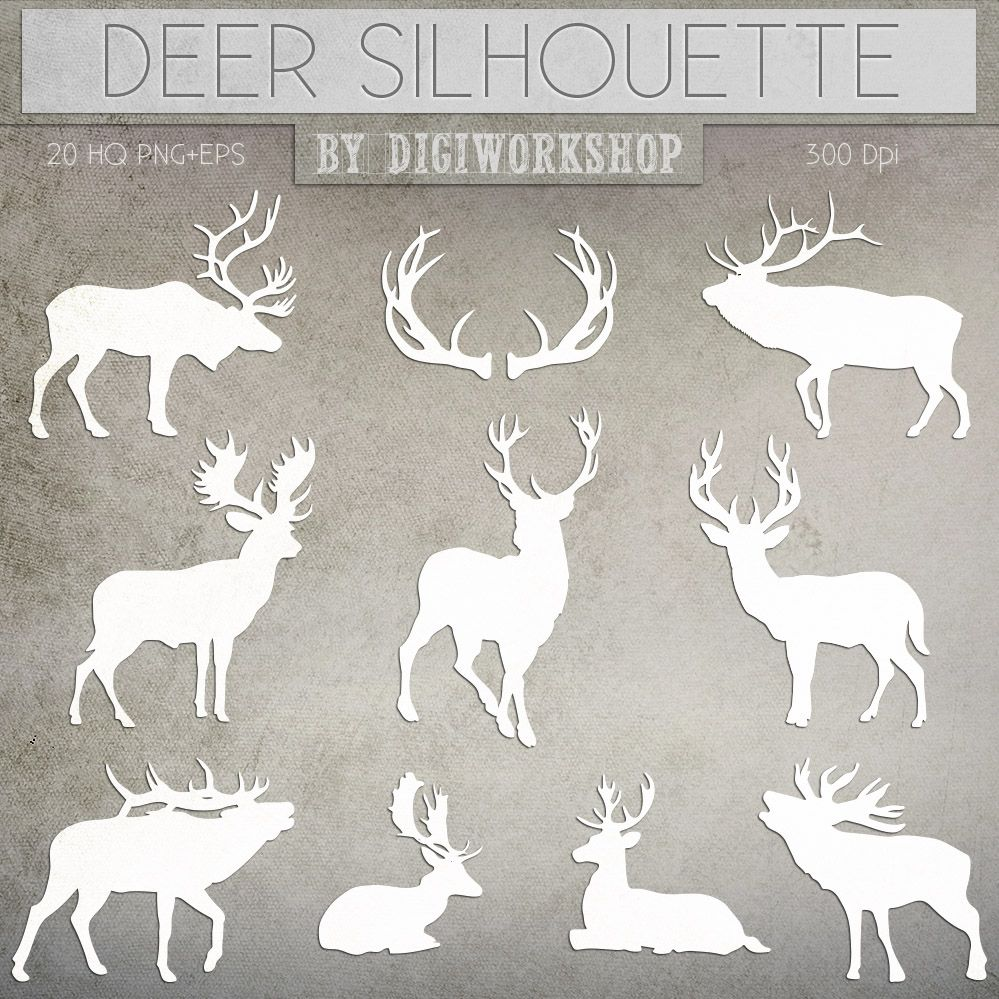 Deer Clipart Silhouettes Of Deer Clip Art Contains Etsy Clip Art Art Deer Silhouette