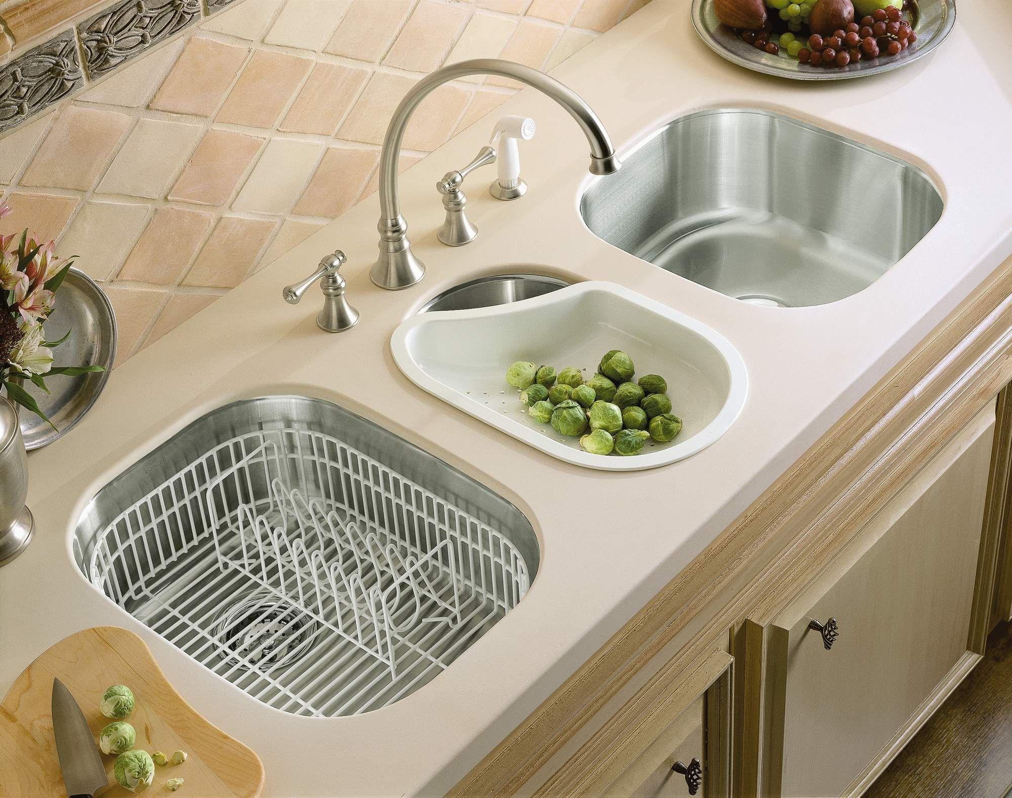 Sanitar Waschbecken Kuche Insel Edelstahl Wasserhahn Einzigartige Keramische Fliesen Backspla Kitchen Sink Design Kitchen Sink Accessories Kitchen Inspirations