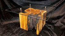 Olive Wood Cube Coffee Table