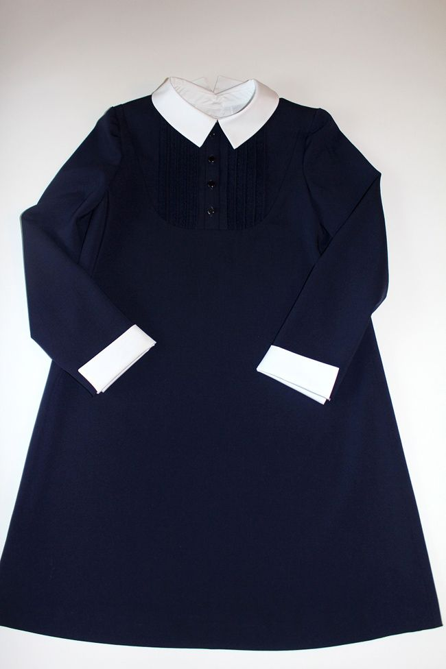 8395c6a6805b Школьная форма своими руками: платье для девочки | шитье | Школьная ...