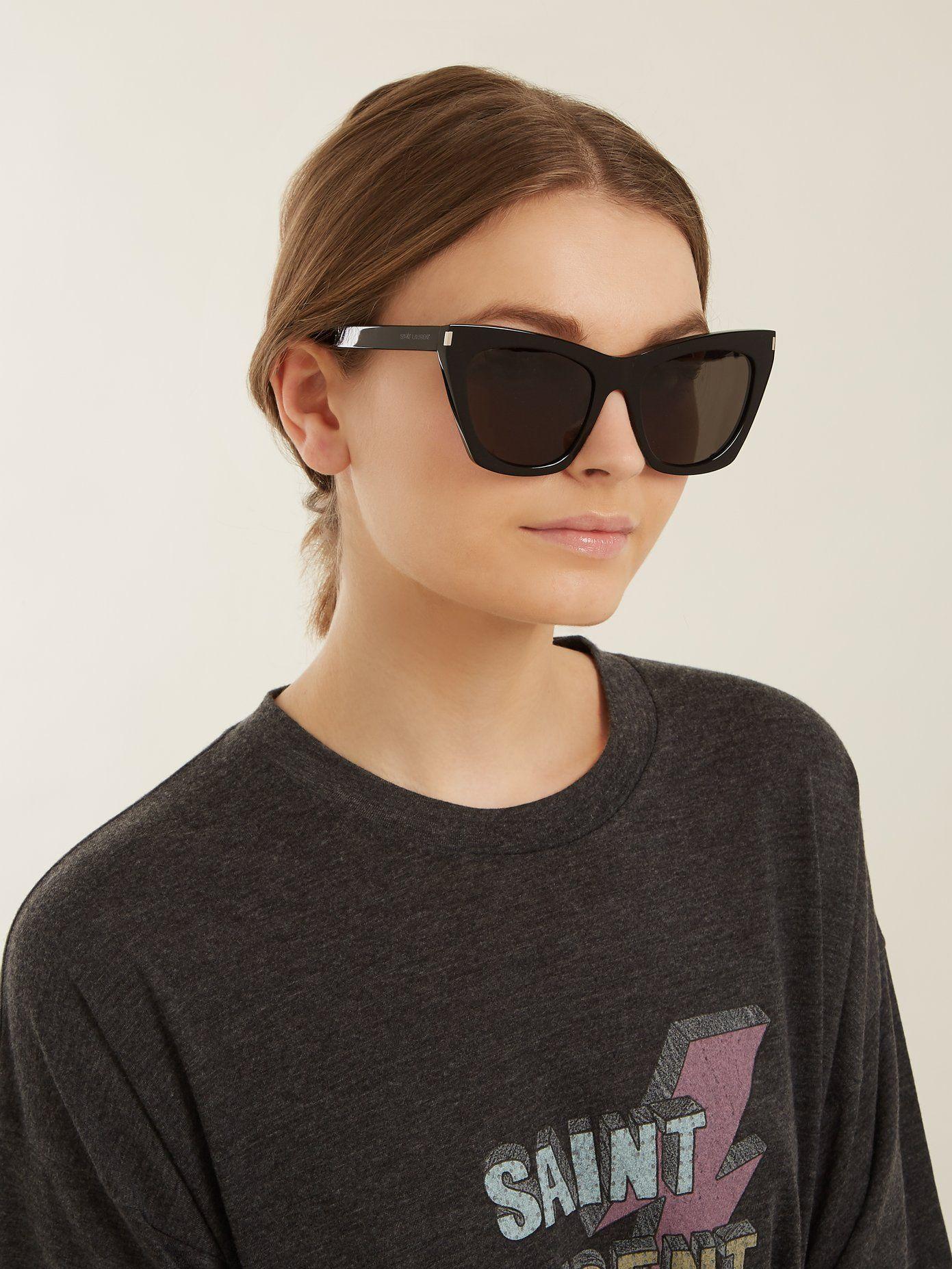 1967ba7b4b Kate square cat-eye frame acetate sunglasses
