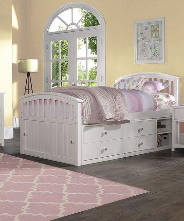 Look at this #zulilyfind! White Barrett Full Captain's Bed #zulilyfinds