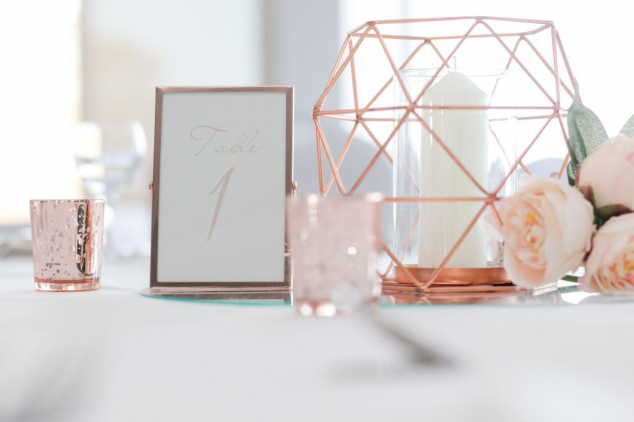 Rose gold framed table number | Wedding stuff | Pinterest | Framed ...