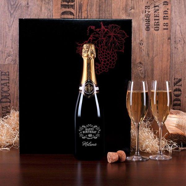 Champagner Set von Stölzle mit hochwertiger Gravur