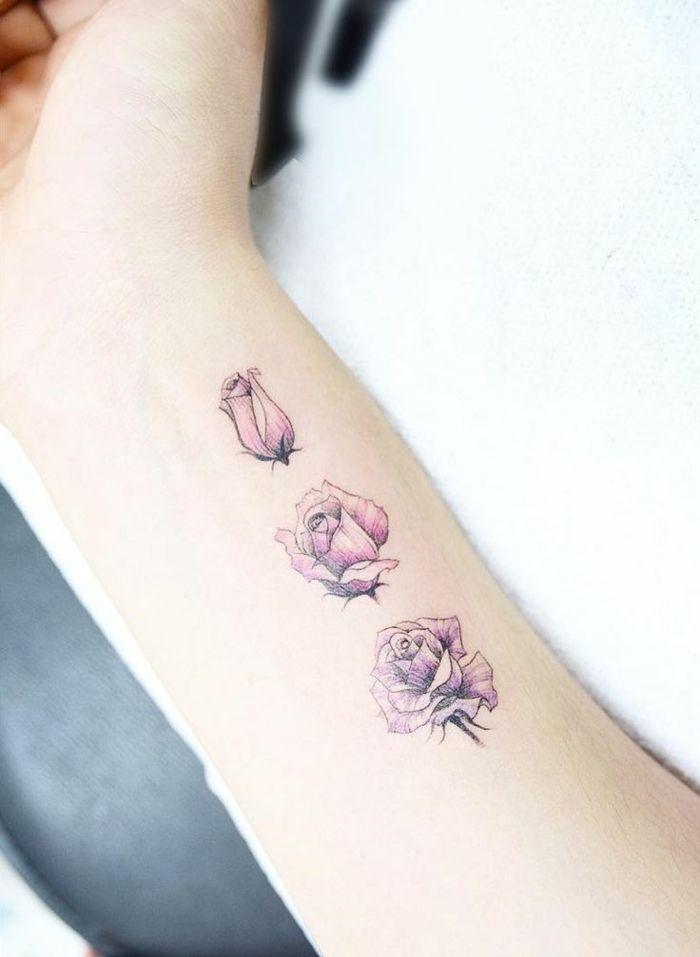 tatuaggi piccoli, tattoo, tulipano,polso, lingo, delicato ...