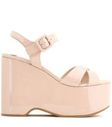 Miu Miu Leather Platform Wedge Sandals pay with visa cheap price low price fee shipping for sale LuLX0aF69