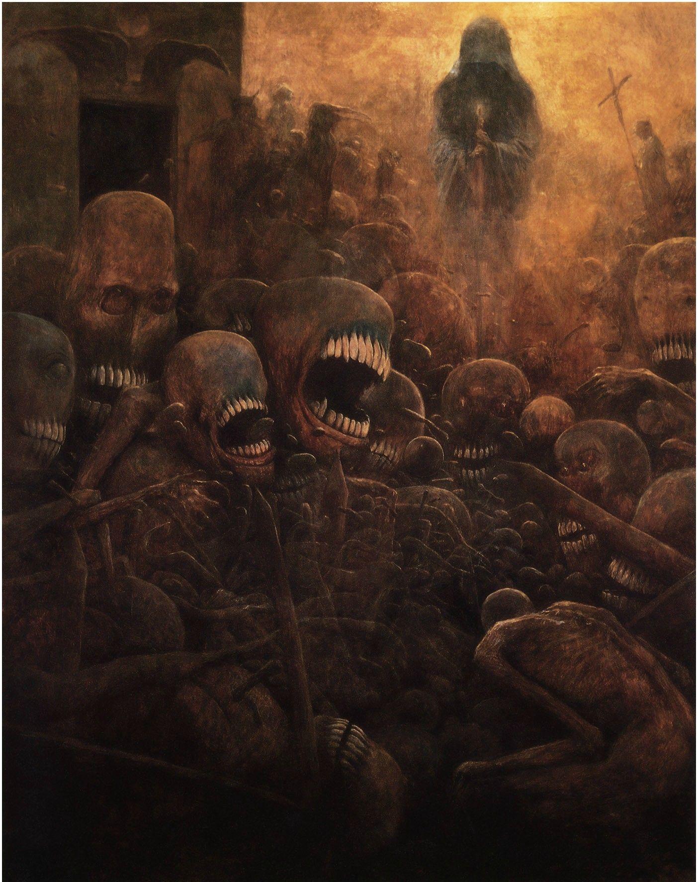Zdzislaw Beksinski Art Nightmare Fuel 怖い絵 ベクシンスキー
