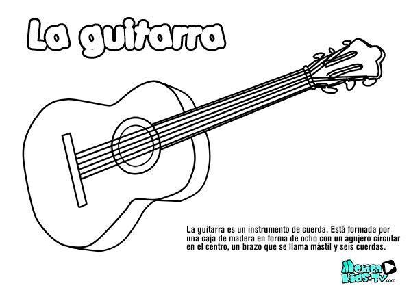 Pintas instrumentos musica GUITARRA, recursos educativos musica ...