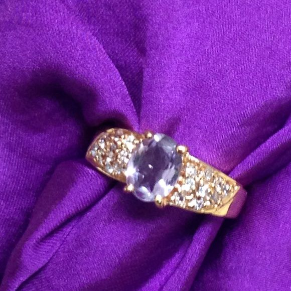 TAKE EXTRA 50% OFF Faux diamond Gem Stone Ring Beautiful color combination stone ring with faux diamonds in gold plated ring Jewelry Rings