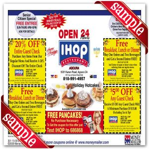 graphic relating to Ihop Printable Coupons identified as IHop Printable Coupon December 2016 Discount codes For Free of charge