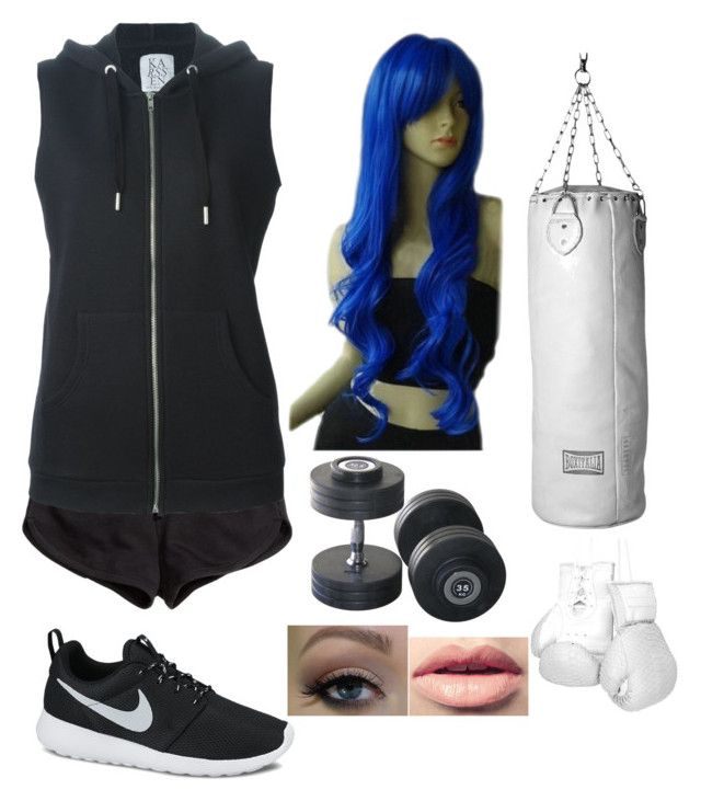 """""""Shadow's training outfit"""" by partypoisonkilljoy ❤ liked on Polyvore featuring H&M, Zoe Karssen, NIKE, Seletti, Elisabeth Weinstock and Easy Spirit"""