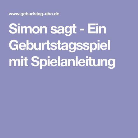 Simon Sagt Ein Geburtstagsspiel Mit Spielanleitung Spiele