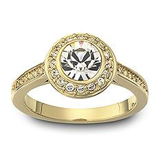 Angelic ring, gold plated