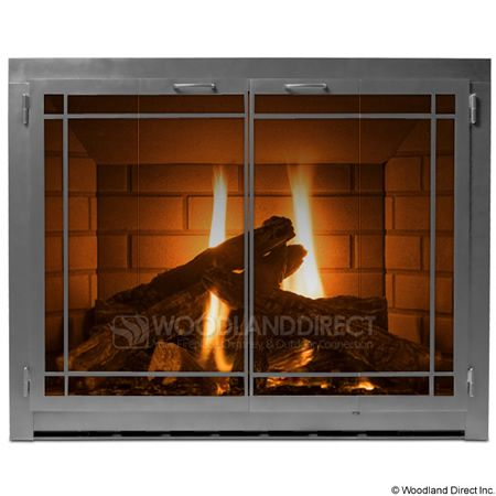 Carolina Fireplace Glass Door - Window Pane 900 with ...
