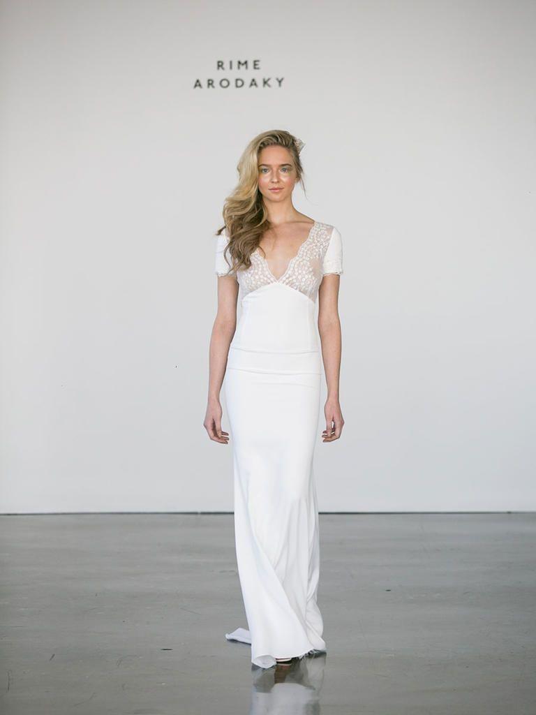 Ethereal wedding dress  Rime Arodaky Fall  Glam Ethereal Wedding Dresses  Pinterest