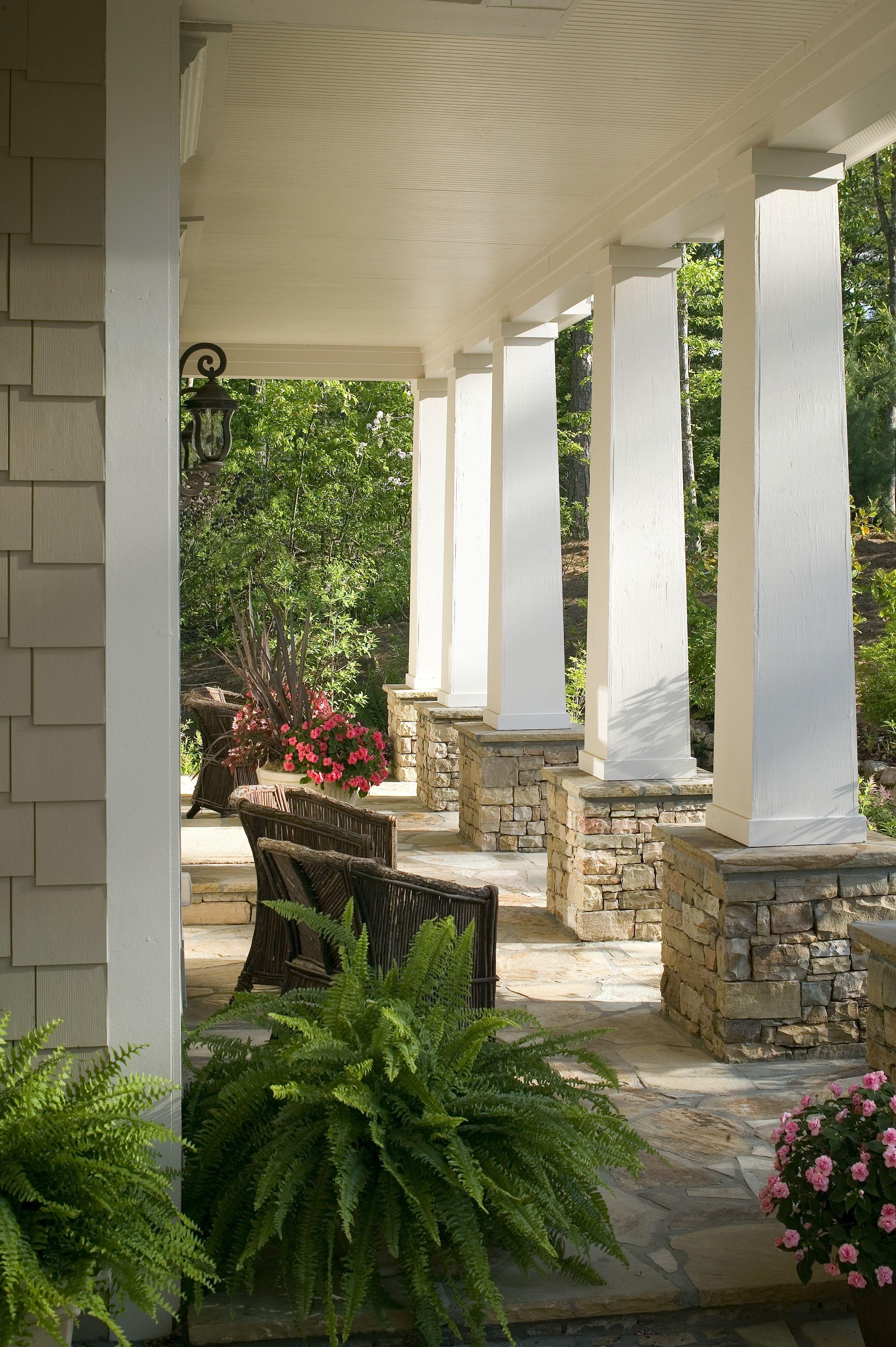 Free Estimates From Local Pros Stone Porches Exterior Makeover
