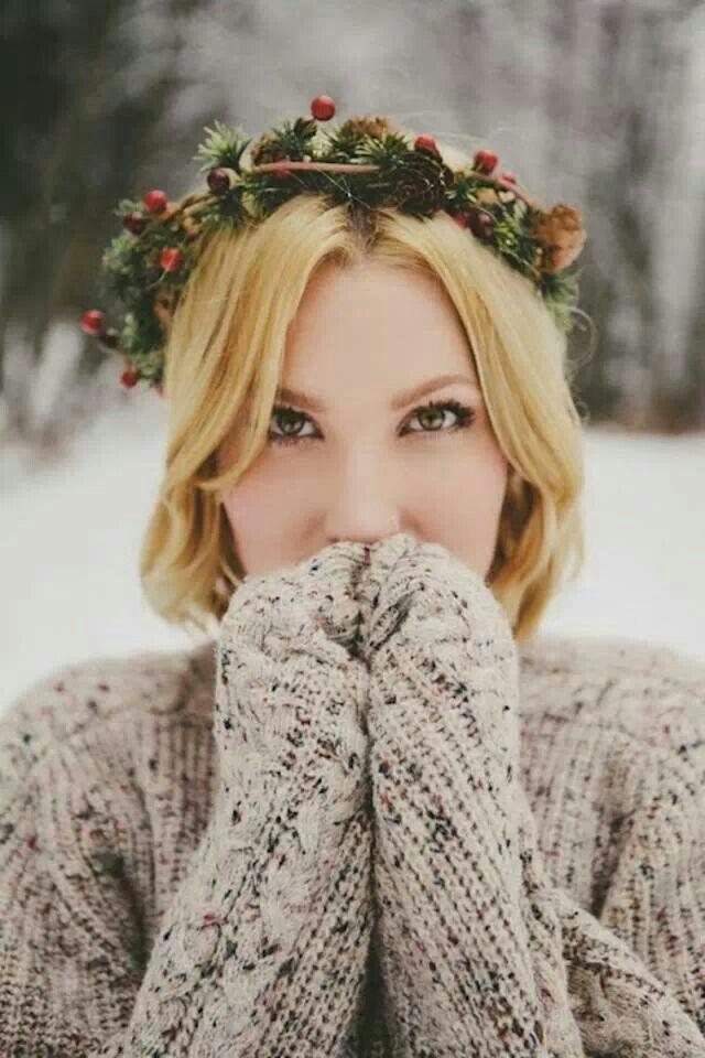 couronne de mariée pour votre mariage d'hiver