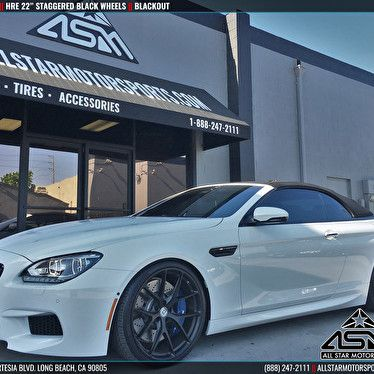 Bmw M6 Series Blackout With 22 Staggered Hre Wheels With Images