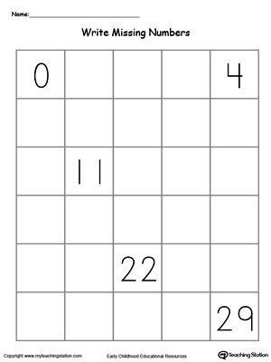Kindergarten Numbers Printable Worksheets With Images Writing Numbers Numbers Kindergarten Preschool Number Worksheets