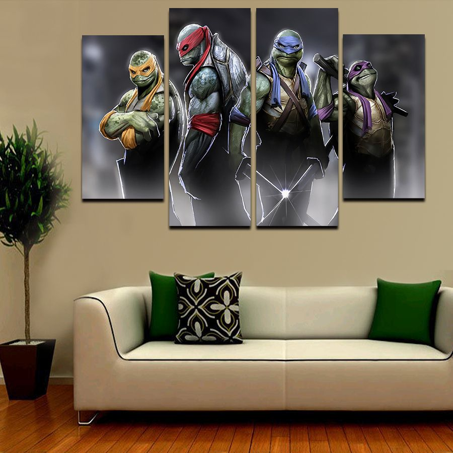 hot pcs large hd teenage mutant ninja turtles with abstract