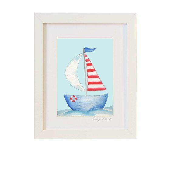 Velero arte, niños barco arte, arte niños playa, guardería náutica ...