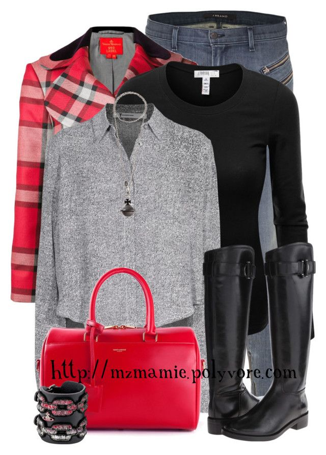 """""""Untitled #2649"""" by mzmamie ❤ liked on Polyvore featuring J Brand, Vivienne Westwood Red Label, J.TOMSON, T By Alexander Wang, Vivienne Westwood, Yves Saint Laurent, Tory Burch, women's clothing, women and female"""