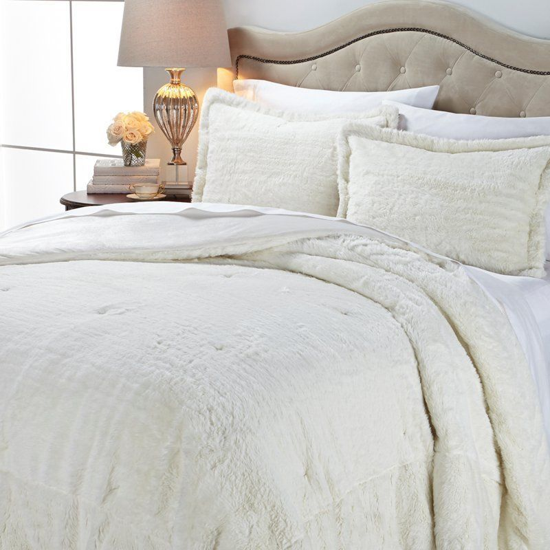 A By Adrienne Landau Faux Fur Comforter Set White Rabbit Full New Bedding Sets Daybed Bedding Sets Comforter Bedding Sets