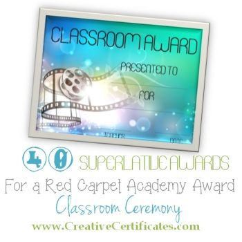 superlative awards abc Pinterest Classroom rewards, Homeschool
