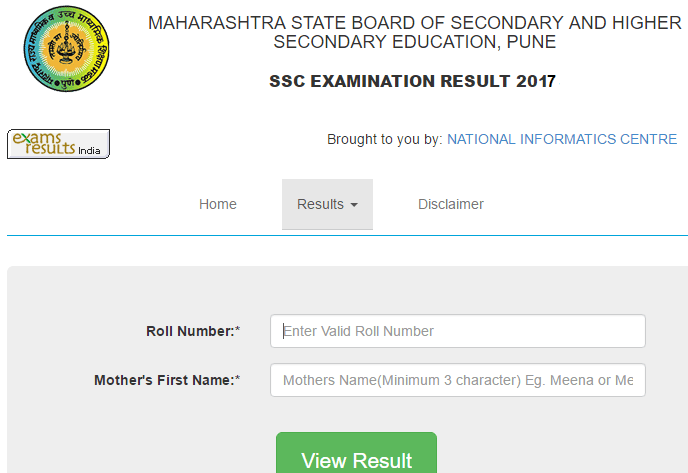 Maharashtra Board Ssc Class 10th Result 2017 At Mahresults Nic In