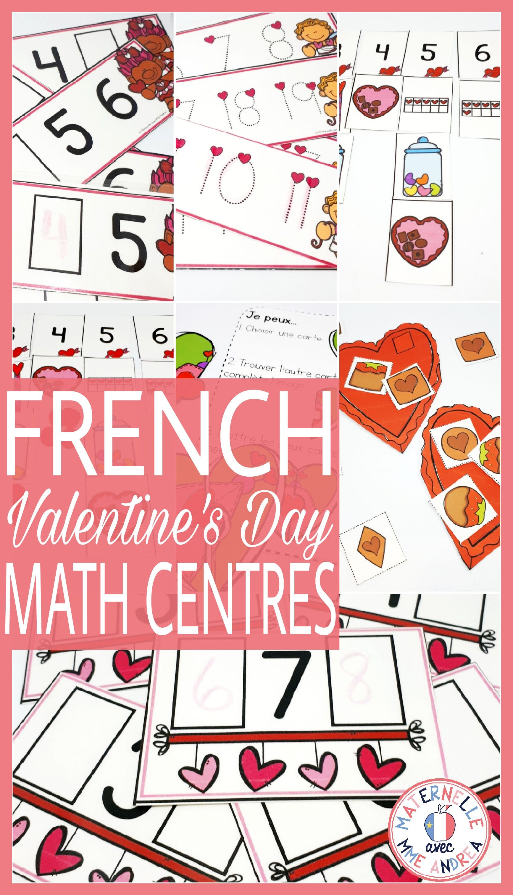 French Valentine S Day Math Centres