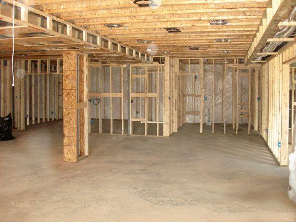 Great Basement Framing Design Layout S Http Basementfinishinguniversity Com Finishing Basement Basement Remodeling Basement Remodeling Plans
