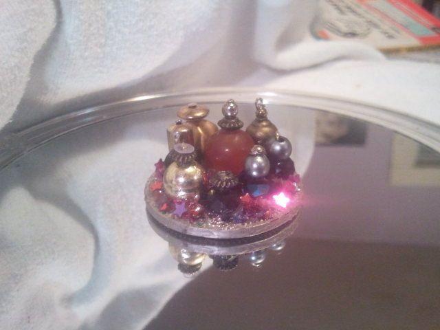 miniature perfume tray for dollhouse