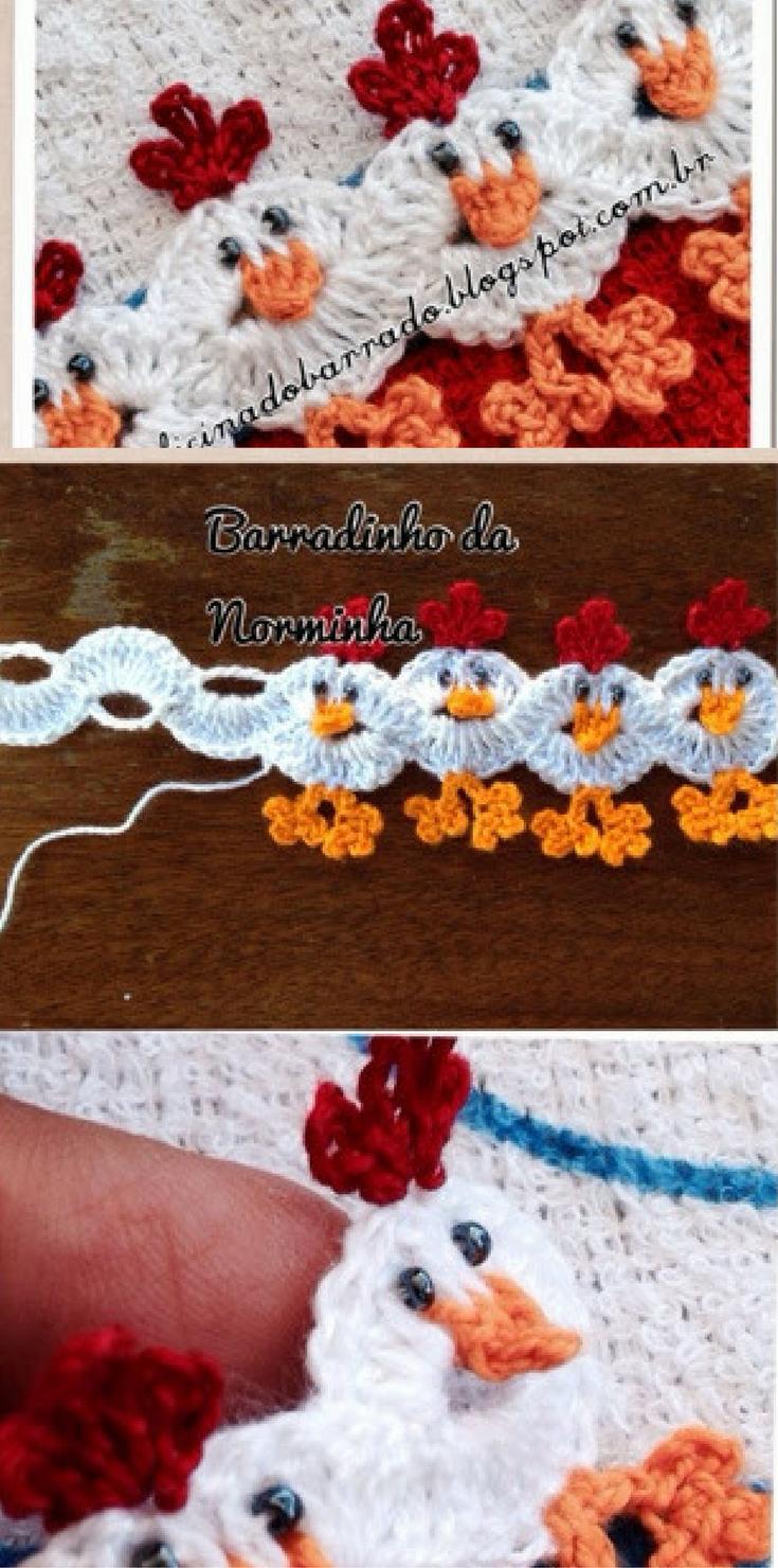 Photo tutorial this amazing chicken edging crochet pattern will photo tutorial this amazing chicken edging crochet pattern will make your jaw drop bankloansurffo Gallery