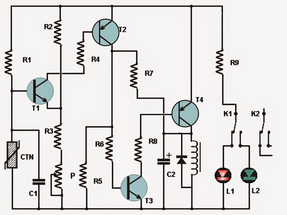 Simple Thermostat Circuit Using Transistors | Eletrónica | Pinterest ...