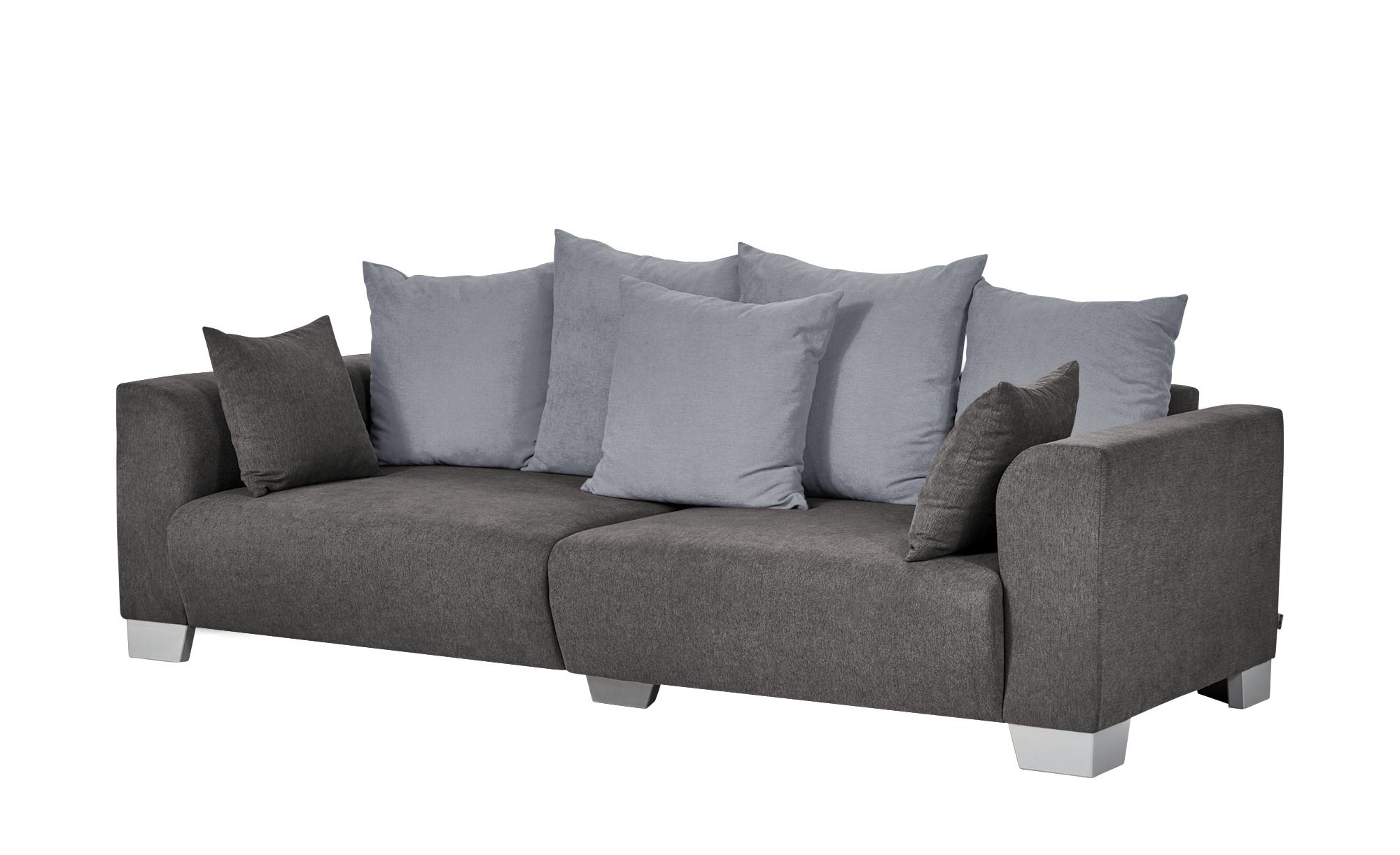 Smart Big Sofa Grau Braun Flachgewebe Tonja Grosse Sofas Sofa Und Big Sofa Grau