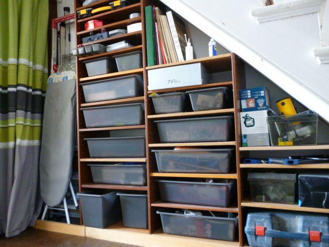 Under Stairs Storage Ikea building+shelves+under+basement+stairs | bargain corner