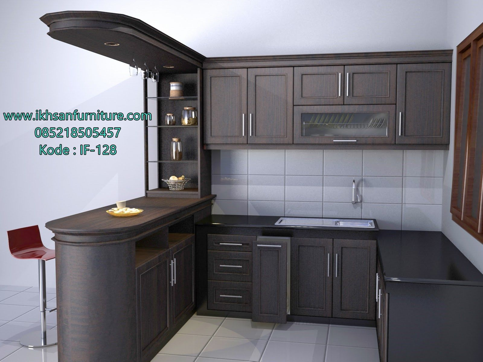 Jual kitchen set minimalis elegan model kitchen set for Harga paket kitchen set minimalis