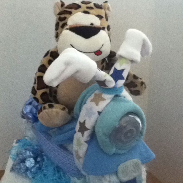 My primera motorcicle  diaper cake