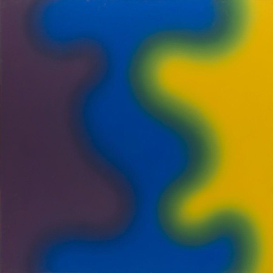Wojciech Fangor, (1922 - 2015), oil on canvas, signed.