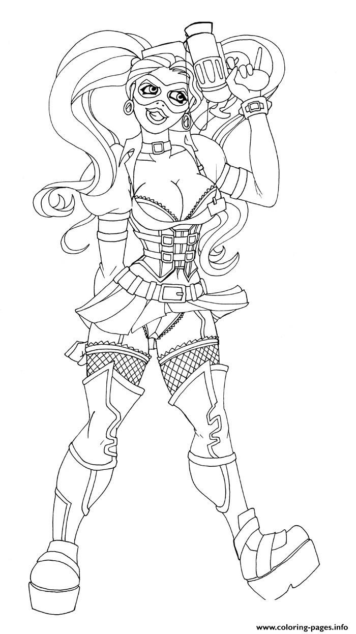 harley quinn coloring pages for adults Print sexy adult gun harley quinn coloring pages | coloring pages  harley quinn coloring pages for adults
