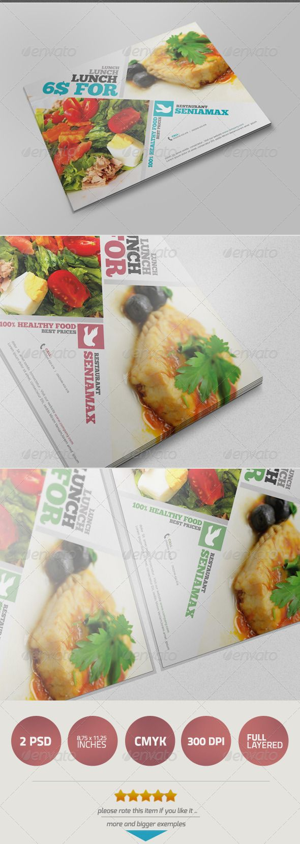 Healthy Food Flyer V  Flyer Template Business Company And