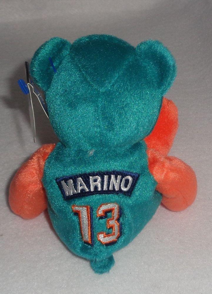Dan Marino  13 NFL Dolphins Limited Treasures Pro Bears Beanie Bear   MiamiDolphins 79cb873ef