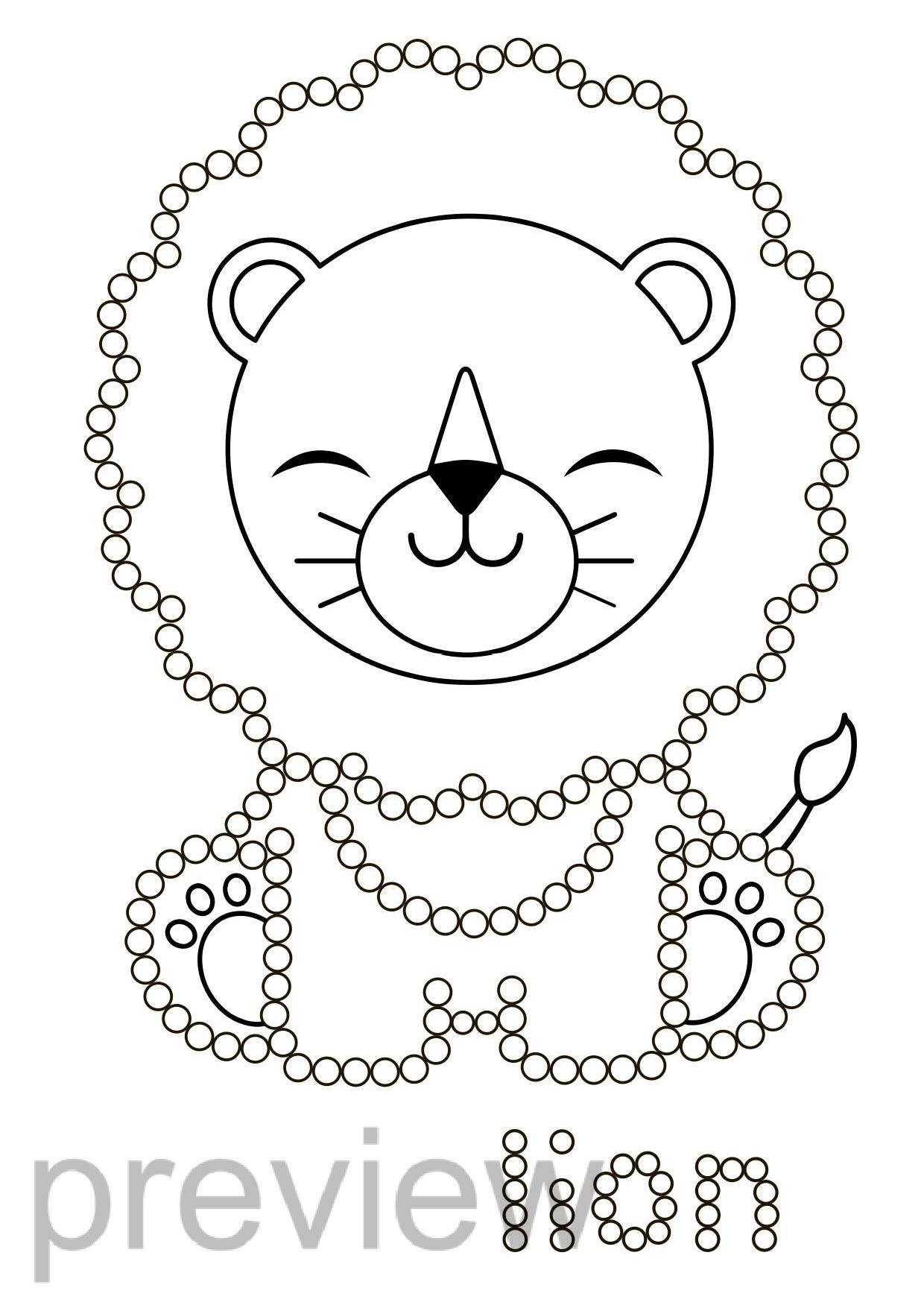 Q Tip Fine Motor Animals Dot Painting Worksheets Preschool Colors Dot Painting Toddler Drawing [ 1755 x 1240 Pixel ]
