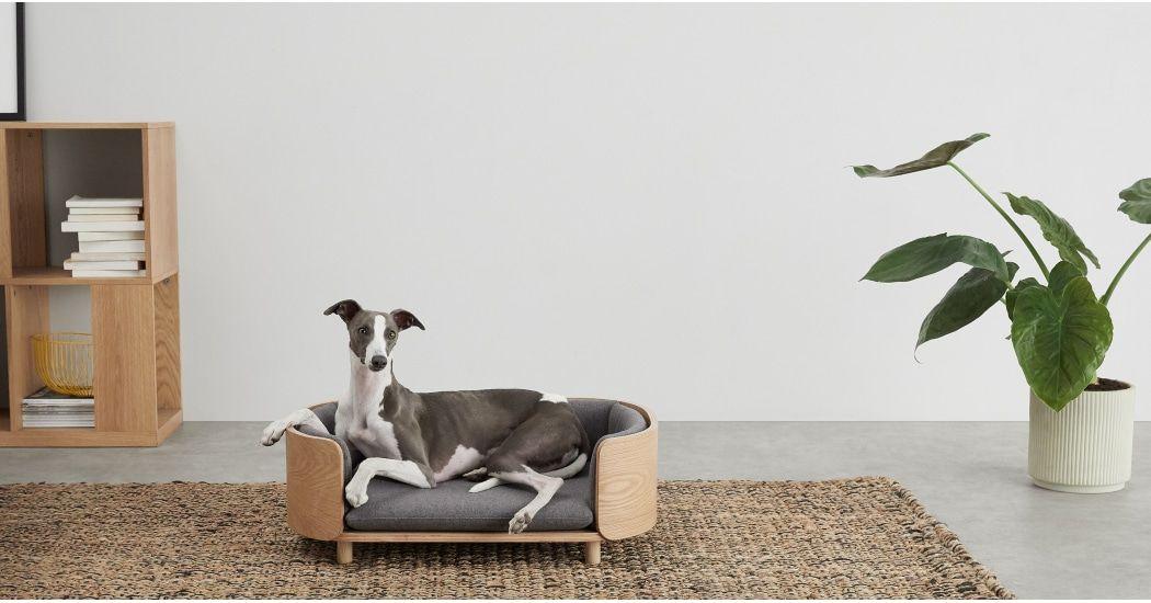 Kyali Dog Sofa Natural Ash And Grey S M Avec Images Panier Chien Meuble Pour Animal De Compagnie Chien