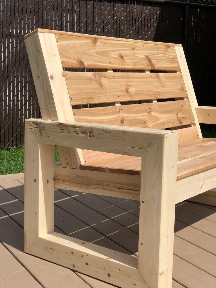 Outdoor Wooden Bench In 2019 Diy Garden Furniture Diy