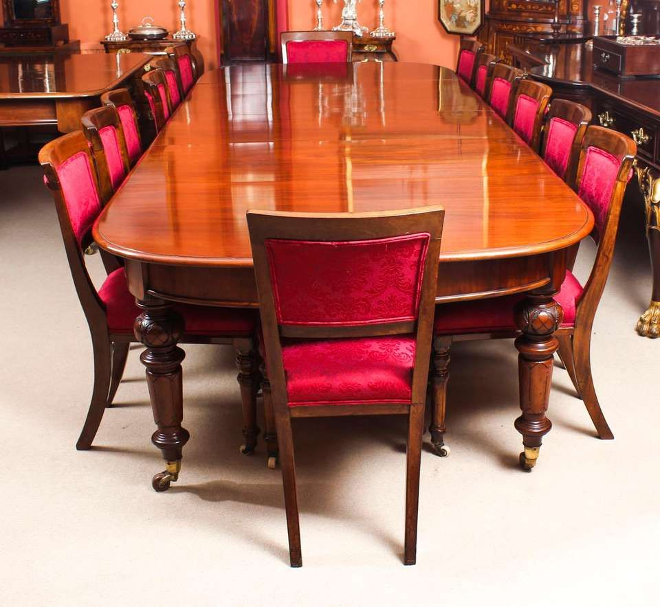 Antique Victorian D End Mahogany Dining Table And 14 Chairs 19th Century Dining Table Mahogany Dining Table Victorian Dining Room Table