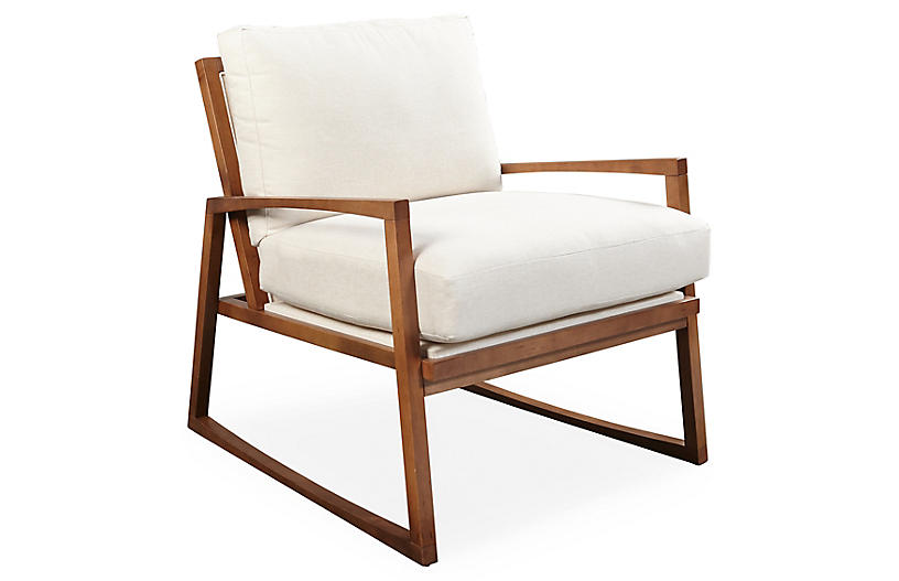 One Kings Lane Markus Chair - Cream images